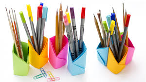 Pencil Holders For Desks by Origami Pencil Holder How To Make Pen Holder Without Glue Youtube