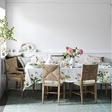 Woven Dining Room Chairs Rutherford Woven Rush Dining Armchair Williams Sonoma