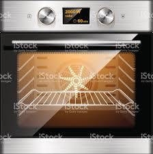 equipement electrique cuisine four électrique en acier inoxydable et verre commande électronique