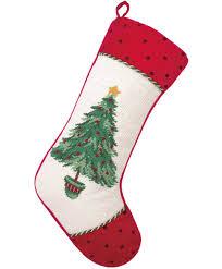 white christmas tree stocking cotton u0026 wool christmas tree