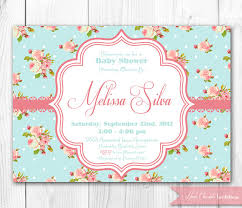 shabby chic baby shower invitation diy printable baby shower