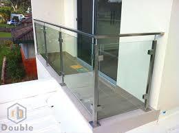 edelstahl balkon mit glas edelstahl balkon glasgeländer glas zaun halb post treppe glas