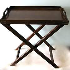 folding oversized wood tray table in espresso wooden tray tables home design