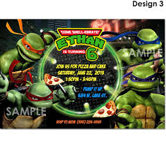 Create Your Own Invitation Card Ninja Turtle Party Invitations Theruntime Com
