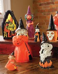 halloween candles vintage witch and ghost halloween candles