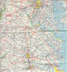 map of roads historical road maps of virginia