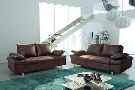 canapé 3 2 tissu canape 3 2 tissu salon fixe complet en marron vieilli ultimo
