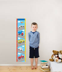 amazon com wall pops wpg0622 transportation growth chart wall amazon com wall pops wpg0622 transportation growth chart wall decals 9 75 inch by 48 inch home improvement