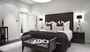 bedrooms monochrome master bedroom with luxury black bed and