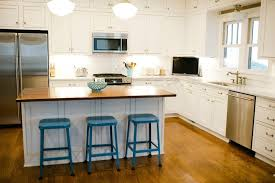 exceptional stools for kitchen island with turquoise blue paint