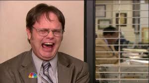Dwight Meme Generator - laughing dwight schrute blank template imgflip