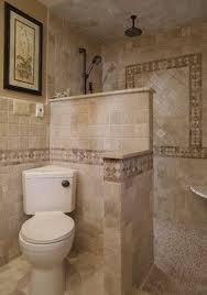 Showers Without Doors Or Curtains Walk In Shower Mediterranean - Bathroom shower design