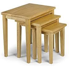 julian bowen coxmoor solid oak julian bowen cleo nest of tables light oak finish co uk