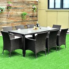 8 Chair Dining Table Set Rattan Garden Dining Table And Chairs 2017 Classical Rattan Garden