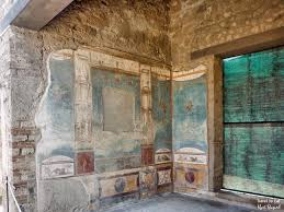 pompeii italy travel to eat east wall of tablinum house of the ancient hunt pompeii italy