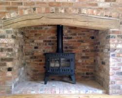 awesome brick fireplace with stove part 9 fireplace fancy