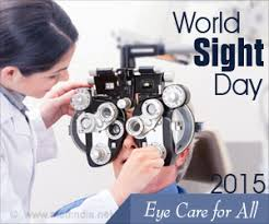World Blindness Day Sight Day 2015 Eye Care For All