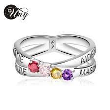 personalized rings for mothers uny rings mothers personalized engravable ring custom birthstone
