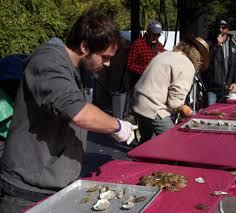 wellfleet u0027s annual oysterfest had it all u2014 including snow news