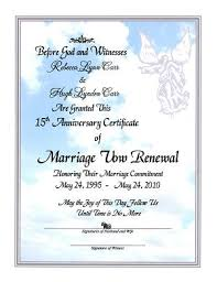 vow renewal program templates angel whispers marriage vow renewal certificate