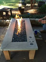 build your own gas fire table www easyfirepits com outside