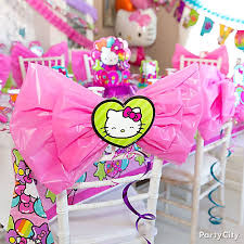 birthday chair cover hello chair deco diy party city