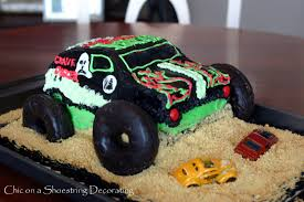 childrens monster truck videos cakes chic on a shoestring decorating monster jam birthday party