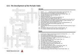 Potassium On Periodic Table Aqa Chem 3 1 The Periodic Table Revision Crossword By