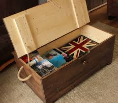 vintage steamer trunk banded travel chest coffee table blanket box