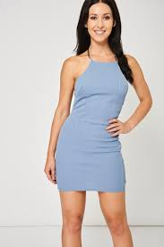 blue bodycon dress blue bodycon dress with back chain detail ex branded discount