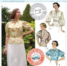 historical pattern review e pattern nanette mid 1930 s blouse wearing history
