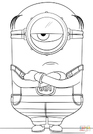 minion mel despicable 3 coloring free printable