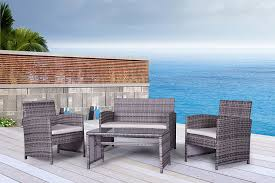 Gray Wicker Patio Furniture by Gray Outdoor Wicker Patio Furniture Sets Outdoor Wicker Patio