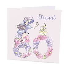 a happy 80th birthday card for an