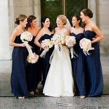 navy blue bridesmaids dresses cheap navy blue bridesmaid dresses 2018 floor length sweetheart