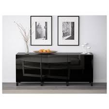 ikea high gloss black kitchen doors bestå storage combination with doors black brown selsviken