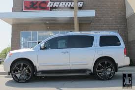 black nissan armada kc trends showcase giovanna andros black milled 26x10 0