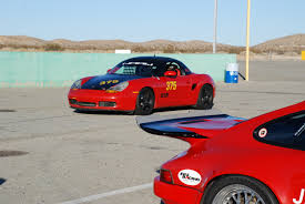 red porsche truck bsr track day at streets of willow california boxster spec