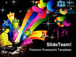 vector composition music powerpoint templates themes and