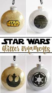 diy glitter wars ornaments