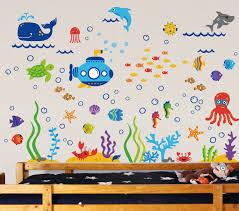amazon com under the sea submarine nursery wall sticker decals amazon com under the sea submarine nursery wall sticker decals nursery wall decor