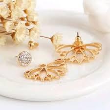 jacket earrings jewelry gold flower ear jacket earrings poshmark