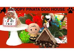 snoopy christmas dog house christmas peanuts snoopy dog house pinata treats diy dog