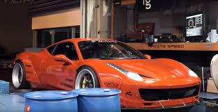ferrari 458 liberty walk liberty walk nissan gt r and ferrari 458 prepare for sema