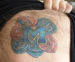 college football fans and their ridiculous tattoos