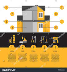 Litora Torqent Per Conubia by House Repair Infographics Hand Tools Home Stock Vector 583015870