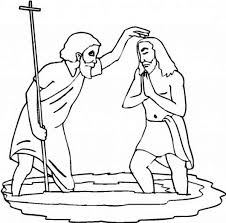 john baptist baptism jesus coloring netart