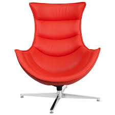 Red Leather Office Chair Leather Swivel Cocoon Chair Zb 34 Gg