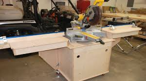 build the fine woodworking miter saw station pt 1 youtube