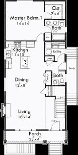 house plans with basement apartments narrow lot plan with basement apartment two family for